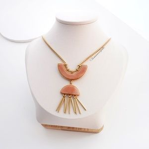 Madewell Jade Concept Fringe Pendant Necklace